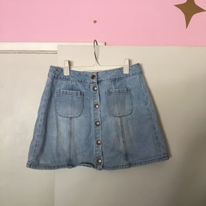 Brandy Melville denim button-up skirt size 27